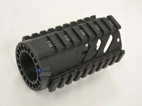 4 Inch Slotted Free Float Quad Rail Handguard Forend Pistol Length Austin Texas AR15 AR15 M16 M4 Parts and Accessories Best Discount WHolesale Prices Rousch Sports