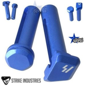 Strike Industries ULTRA LIGHT Enhanced Extended Take Down Front and Rear Pins BLUE .223 5.56 .308 AR 15 M4 M16 Best Discount Wholesale AR Parts and Accessories Austin Texas
