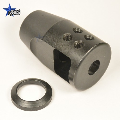 1//2-28 TPI Compact Size Steel Muzzle Brake 223//5.56 w// FREE Crush Washer and Nut