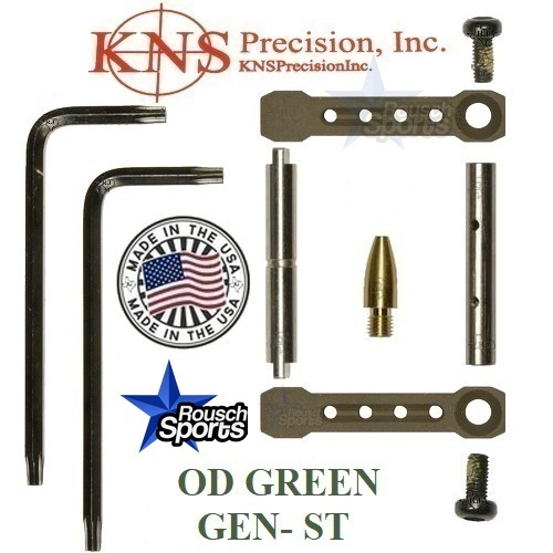KNS Pins Anti Walk Pins Non Rotating Gen ST Spike's Side Plates OD GREEN .223 5.56 .308 AR 15 M4 M16 Best Discount Wholesale AR Parts and Accessories Austin Texas 1 .223 5.56 .308 AR 15 M4 M16 Best Discount Wholesale AR Parts and Accessories Austin Texas Stainless Steel