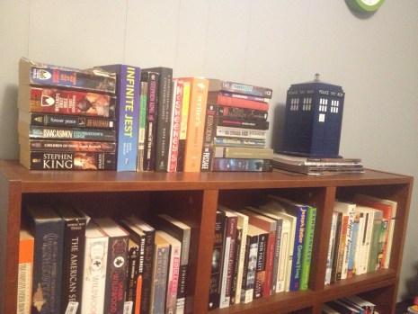 'to read' shelf
