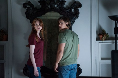 Karen Gillian and Brenton Thwaites star in Relativity Media's OCULUS.  Photo Credit: John Estes ©2013 Lasser Productions, LLC. All Rights Reserved.