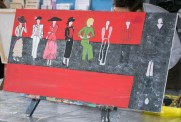 This is one of Amanda Maltais's paintings which she drew during Laser Eagles Art Guild's workshops