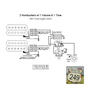 Wiring Two Humbuckers with One Volume and One Tone  Route 249