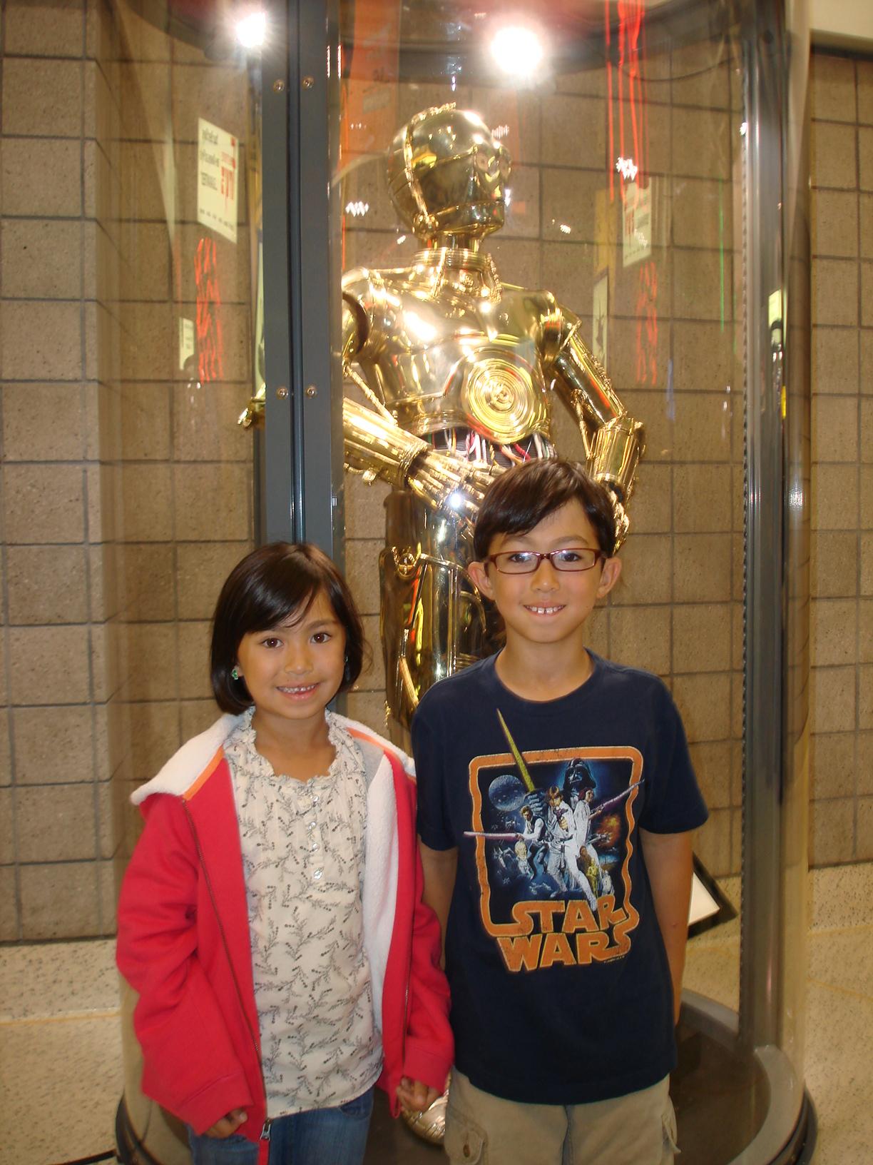 Kids with C-3PO