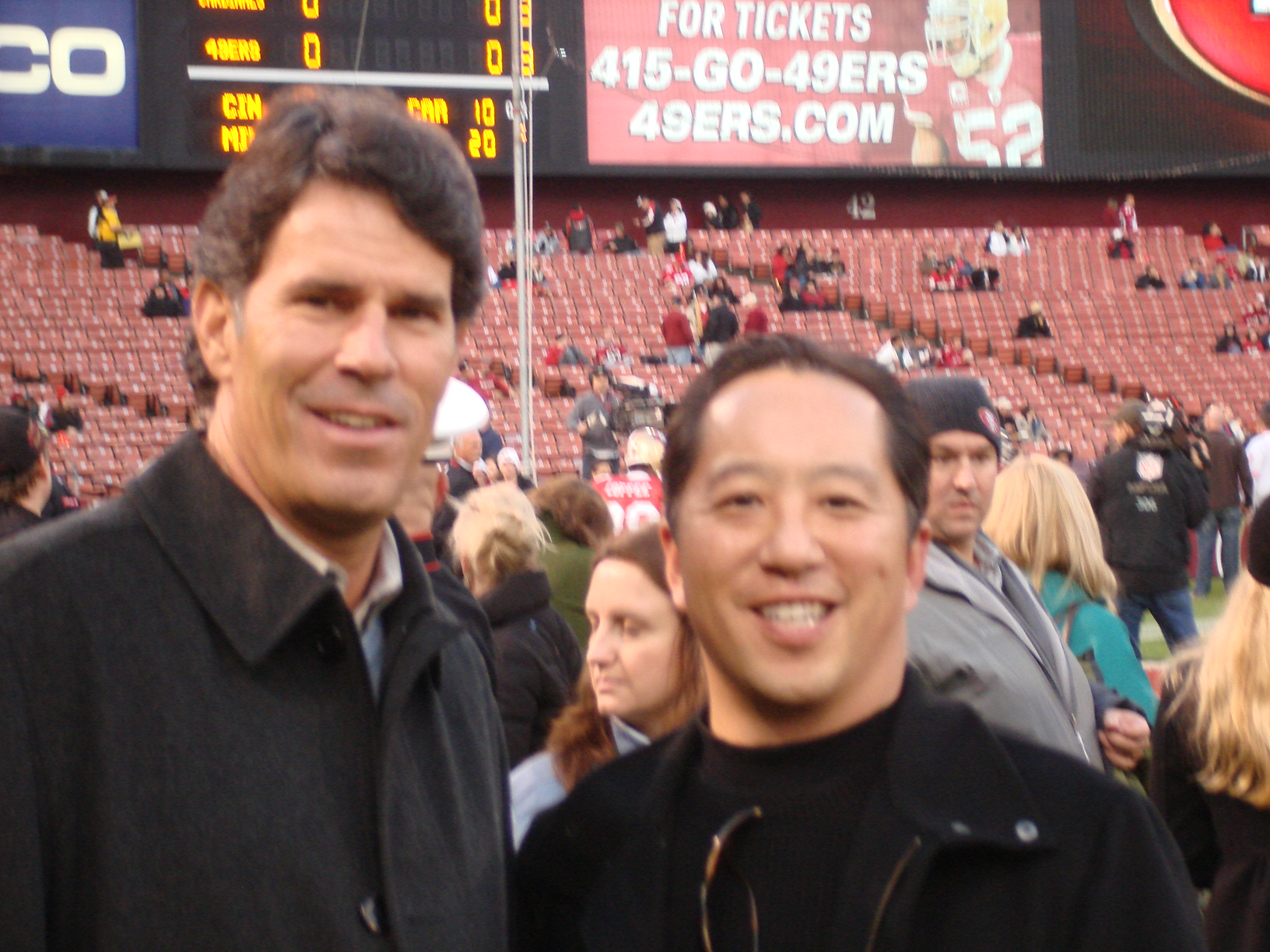 With ex-49er QB Steve Bono