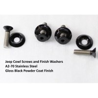 Jeep Wrangler JK Cowl Screws Powder Coated Stainless Steel