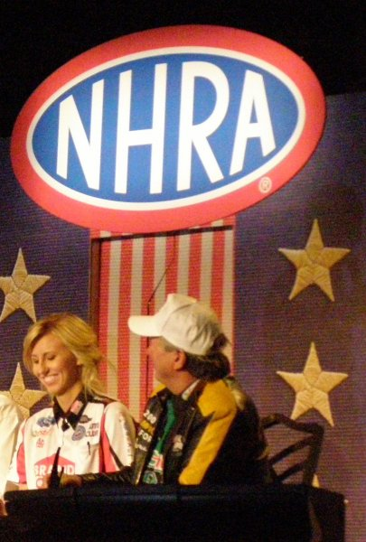 Courtney and John Force