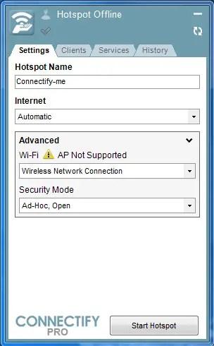 Connectify pro hotspot