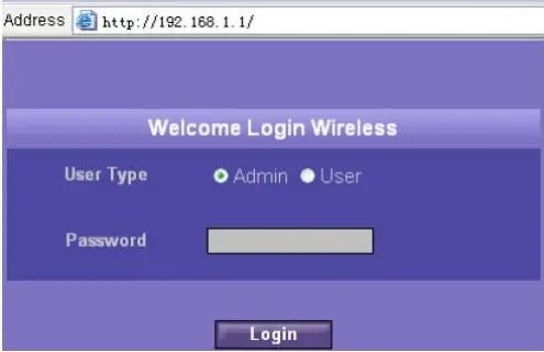Login to Optus E960 router