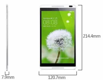 Huawei MediaPad M1 8.0 Tab dimension