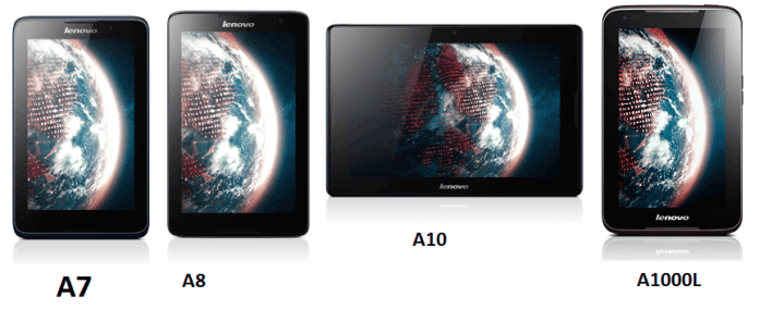 Lenovo A Series Android Tablets