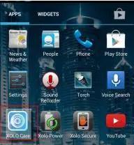 Launch 'XOLO Care' app
