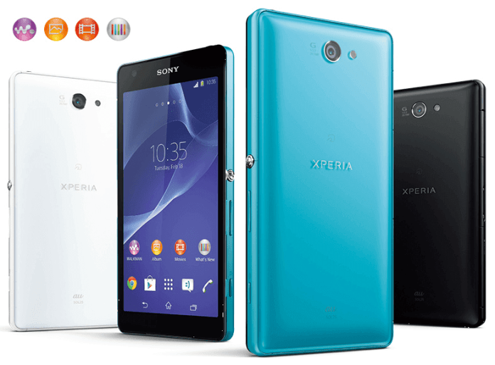 Sony Xperia Z2a Android KitKat Smartphone in Taiwan