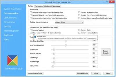 Ultimate Windows Tweaker 3 for Windows 8