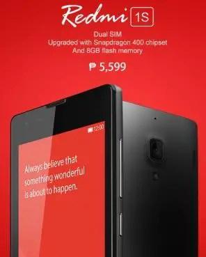 Xiaomi Launches Redmi 1S in Philippines