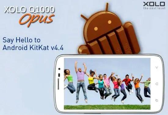 Xolo Q1000 Opus KitKat Update