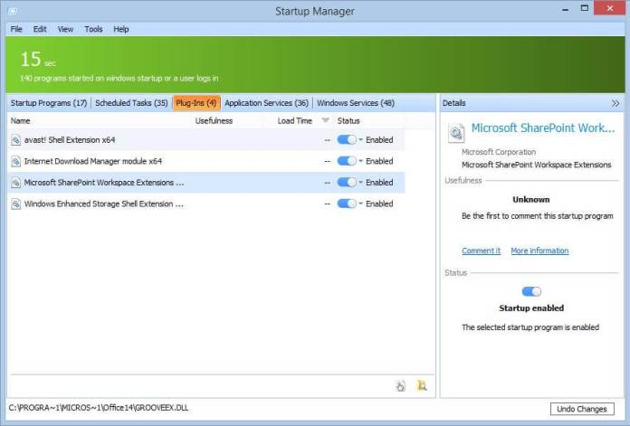 Glary Utilities - Startup Manager