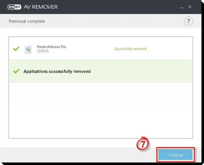 ESET AV Remover - Application Removed
