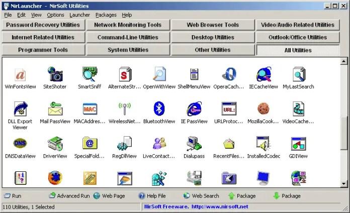 NirLauncher - NirSoft Utilities