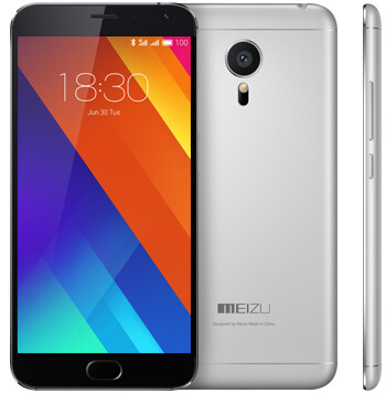 Meizu MX5 - Front with back