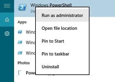 powershell-run-and-administrator