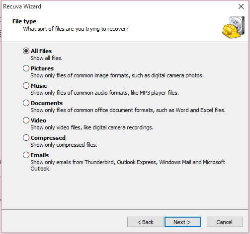 select-types-of-files