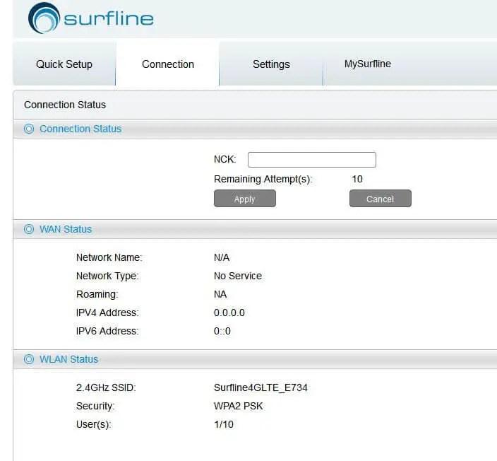 Surfline Ghana Alcatel Y855v