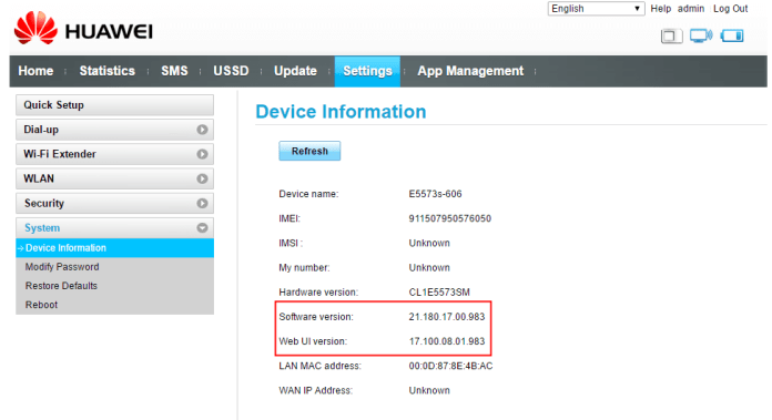 Do you know the Firmware version of your Huawei Modem or Router