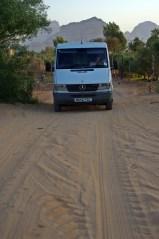 sandy roads -still bearable for Rusty