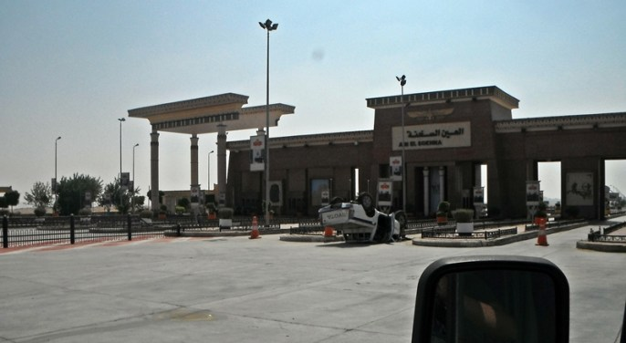 example of a car accident - even on the highway toll gate is not safe
