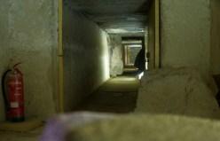 Inside of a pyramid