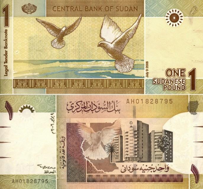 Sudanese Pound (It was 1$ = 5.40 SP)