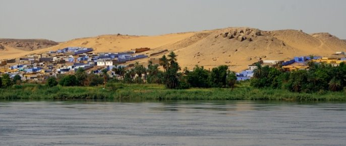 View on the Nubian's villages