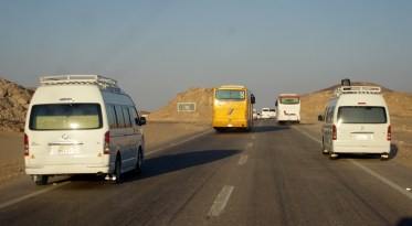 catching up our convoy