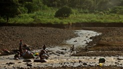 water is very precious in Ethiopia - they can use it for bathing or wahisg cloths
