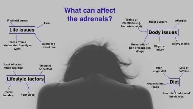 What can cause adrenal issues?