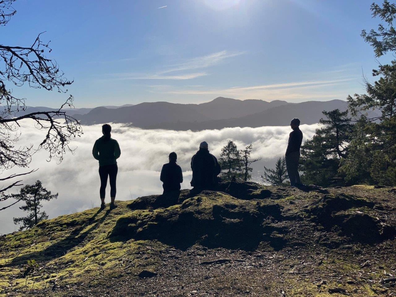 Group of hikers on Bald Mountain