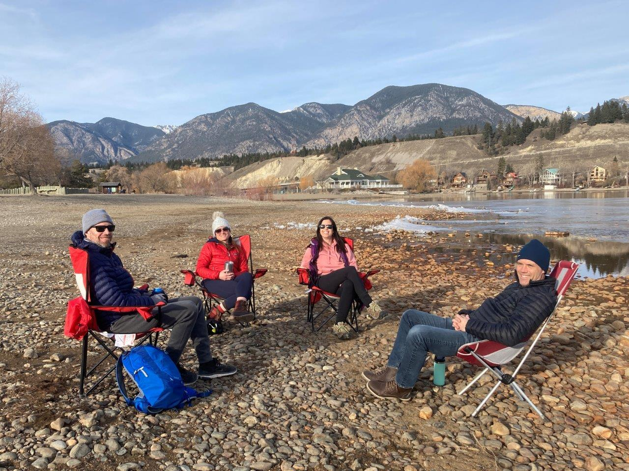 Spring beer on the beach in Invermere