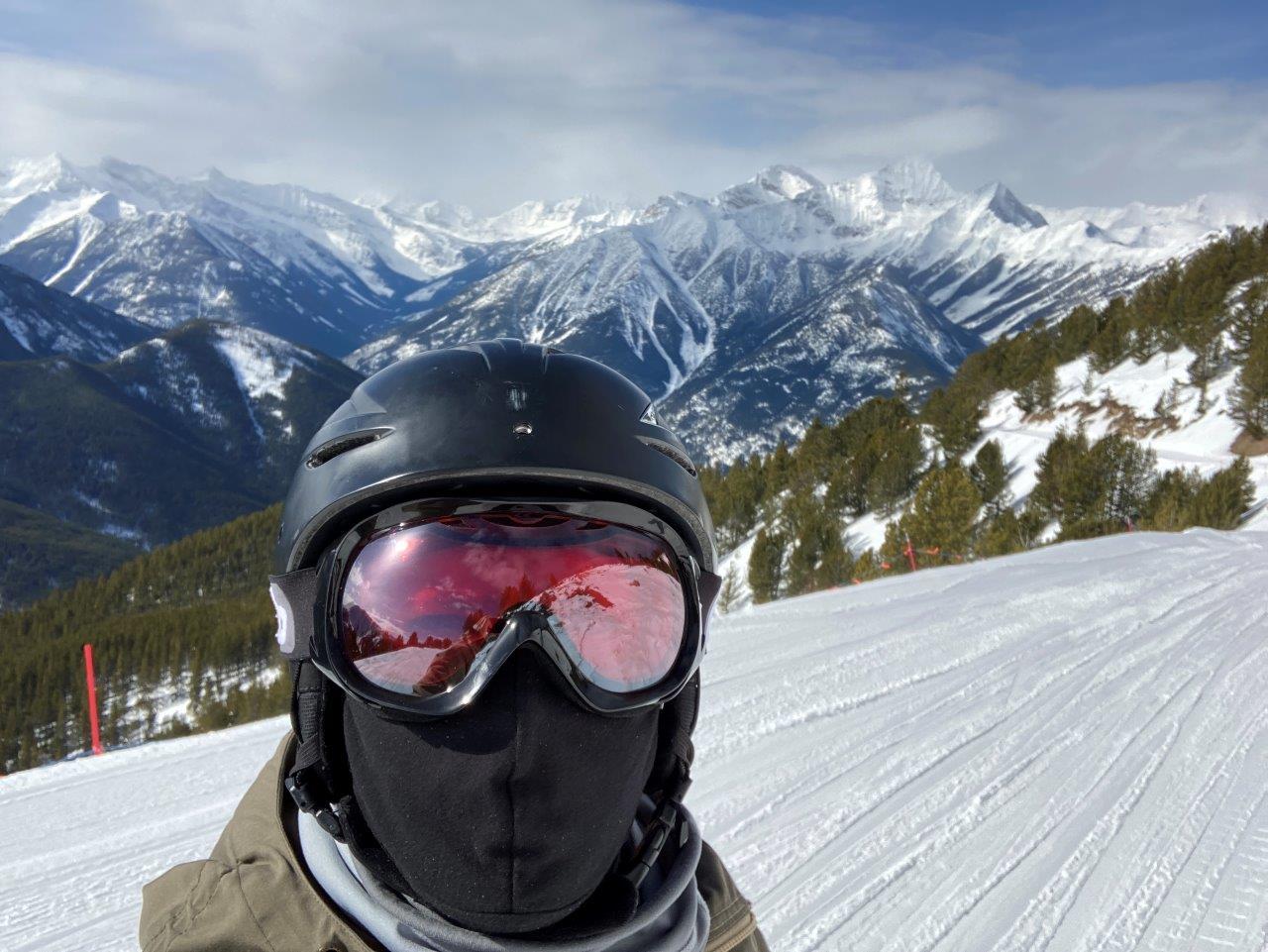 Skier at Panorama Resort