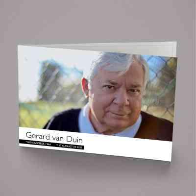 rouwkaart met foto