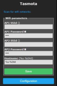 Tasmota wifi instelling