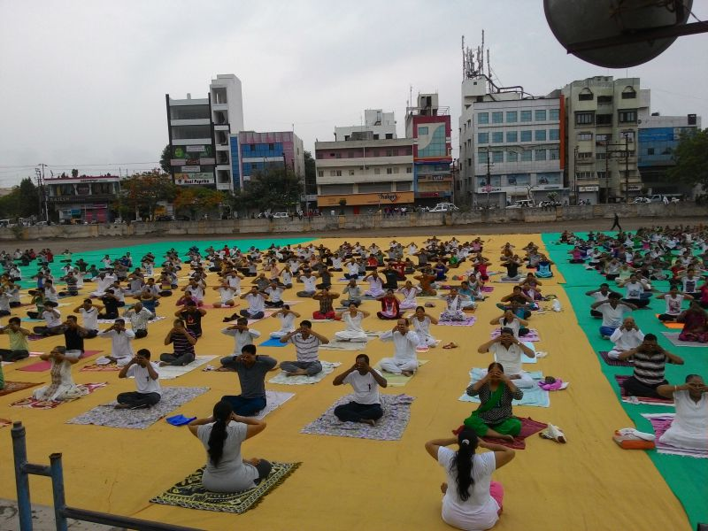 International Yoga Day as a part of staycation