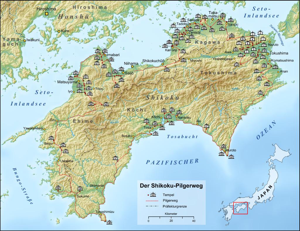 The Shikoku pilgrimage. Credits: wikipedia.org