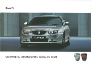 Rover 75 & 75 Tourer Brochure Cover July 2004