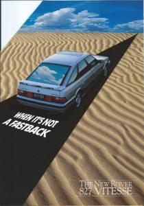 DSC_0001 Rover 827 Vitesse Brochure Cover 10-1989