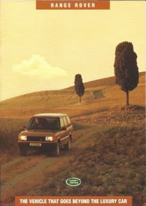 Range Rover P38A Australia brochure cover October 1994