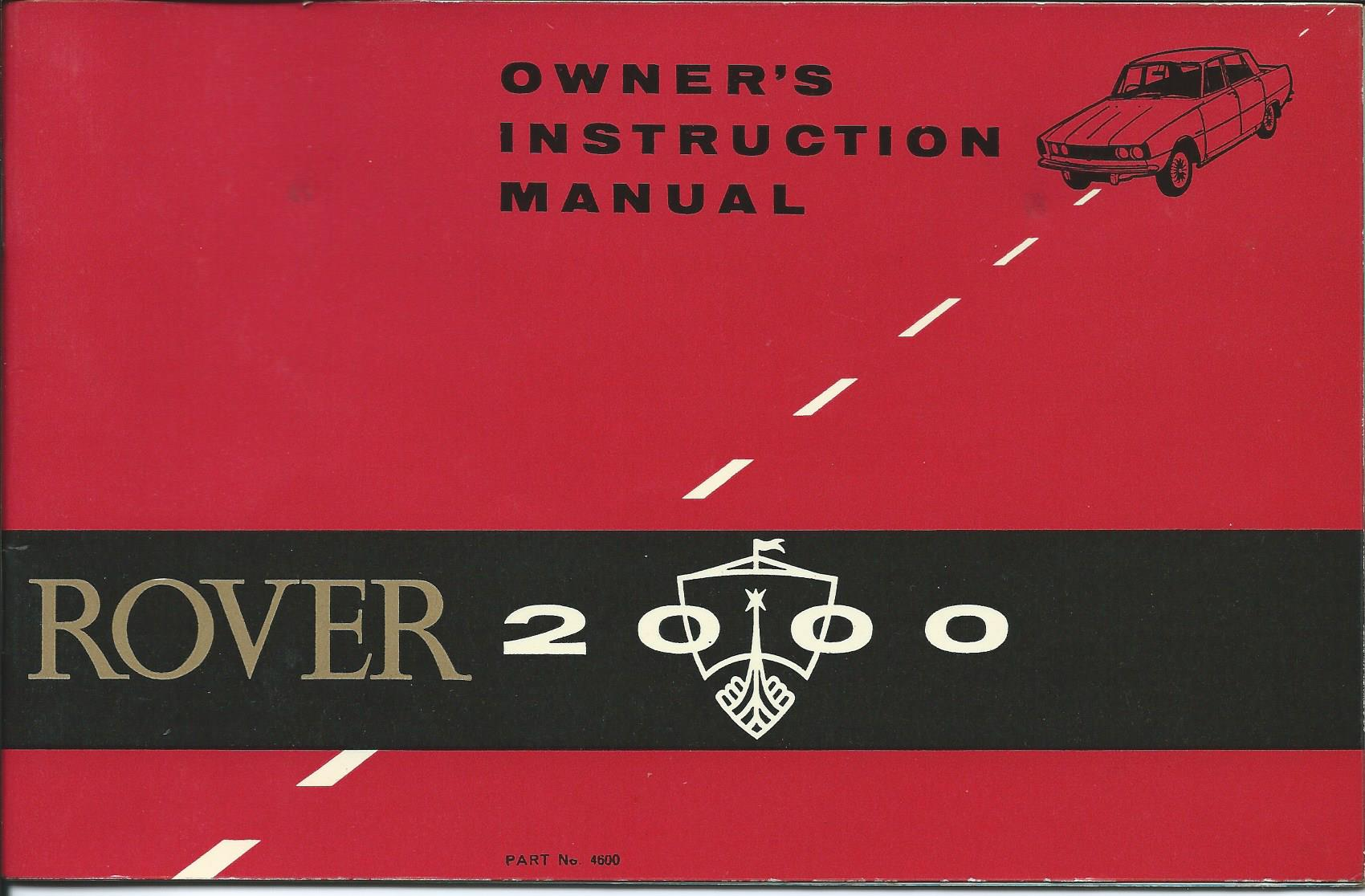 Download | Rover 2000 Owners Instruction Manual extract 1965 PDF