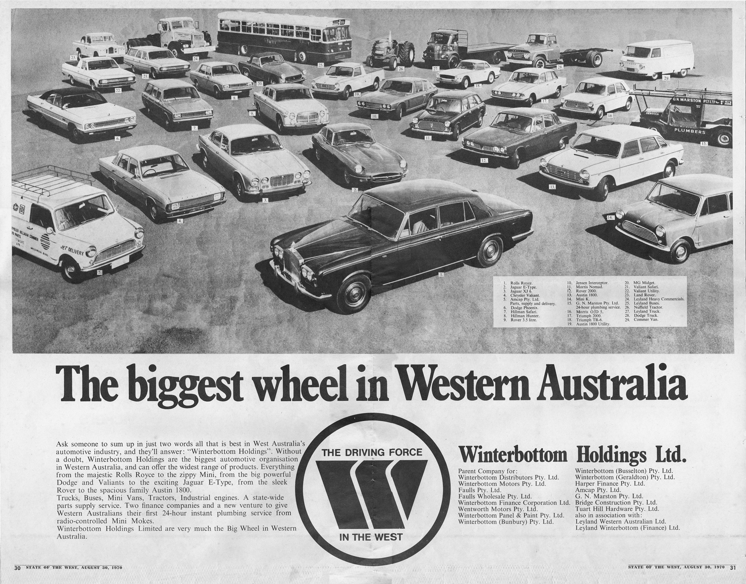 571ab23f78 Large format advertisement which appeared as a centrespread in a supplement  to The West Australian Newspaper