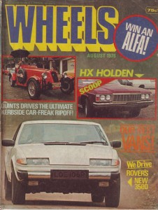 New Rover 3500 Wheels Magazine 8-1976 Cover